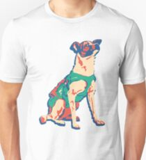 Laika Space Dog Vector Russian Propaganda Pup Retro Old-Timey Vintage T-Shirt