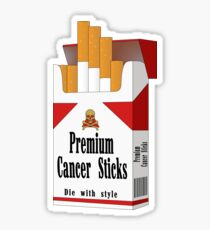 Premium Cancer Sticks Sticker