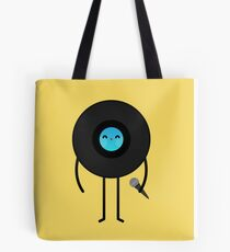 Pop Vinyl Disk Tote Bag
