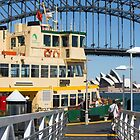 Sydney ferry,harbour bridge and Opera House Australia  by Martin Berry Photography