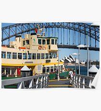 Sydney ferry,harbour bridge and Opera House Australia  Poster