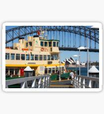 Sydney ferry,harbour bridge and Opera House Australia  Sticker