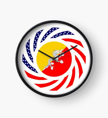 Bhutanese American Multinational Patriot Flag Series Clock