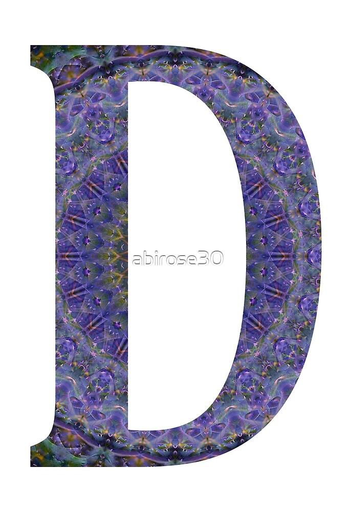 Letter 'D' Purple Mandala 2 by abirose30