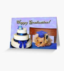 Graduation Hamster Greeting Card