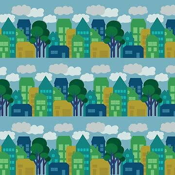 Little Town Textile by jcohendesign