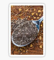 Chia seeds in spoon Sticker
