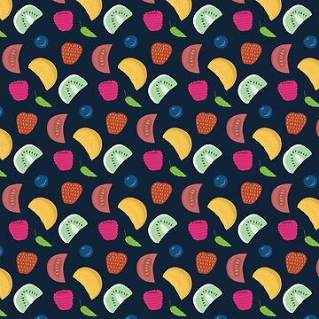 Colorful Fruity Textile by jcohendesign