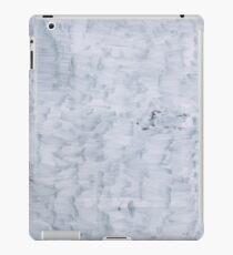 white minimal paint brush texture pattern iPad Case/Skin
