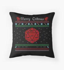 D20 - Merry Critmas  Throw Pillow