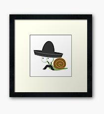Caracolcito Bandito snail  Framed Print