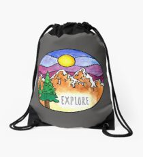Explore the Outdoors  Drawstring Bag