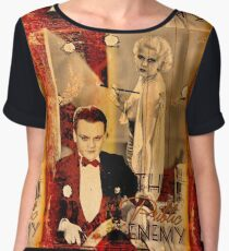 The Gangster's Blonde Girl Chiffon Top
