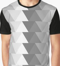 Monochrome Triangle Graphic T-Shirt
