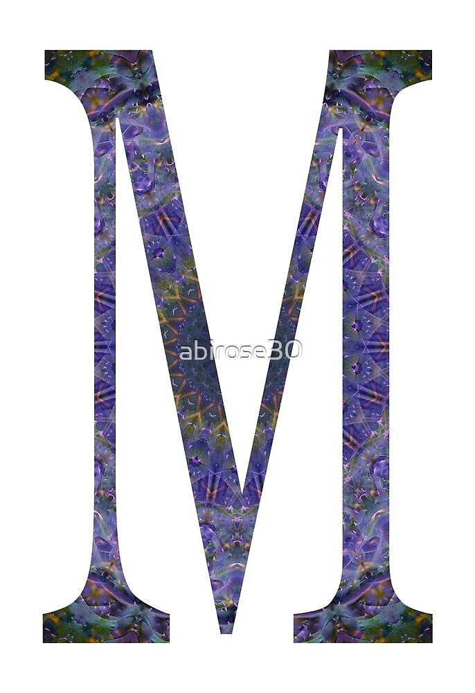 Letter 'M' Purple Mandala 2 by abirose30
