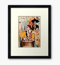 She's got oil ( The Mad Cowboy Disease )  Framed Print