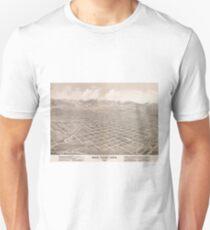 Vintage Pictorial Map of Salt Lake City (1875) Unisex T-Shirt