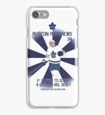 Auston Matthews 4 Goal Game  iPhone Case/Skin