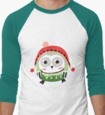 Cute Winter Owl  Men's Baseball ¾ T-Shirt