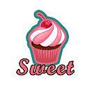 Sweet Pink Cupcake Design by grosvenordesign