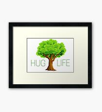 hug life tree hippie hippies inspirational natural green nature spiritual relaxning vegetarian vege t shirts Framed Print