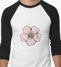 pink wild rose female girl woman flower cute beautiful hippie retro vintage t shrits T-Shirt