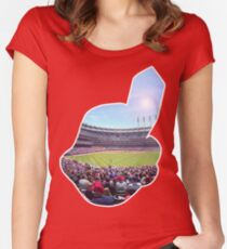 Chief Wahoo - Progressive Field Women's Fitted Scoop T-Shirt