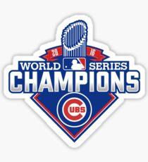 Chicago Cubs World Series Champions Sticker