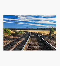 Tracks At Crater Lake Photographic Print