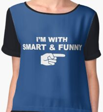 My girlfriend is smart & funny Women's Chiffon Top