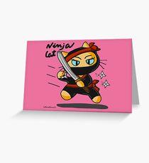Ninja cat Greeting Card
