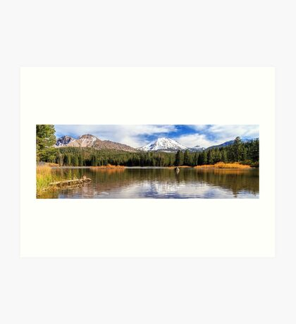 Mount Lassen Autumn Panorama Art Print