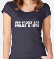 UDP Packet Walks into a Bar Women's Fitted Scoop T-Shirt