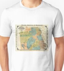 Vintage Map of San Francisco (1890) Unisex T-Shirt