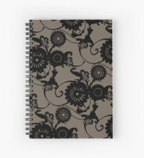 Clockwork Floral Spiral Notebook