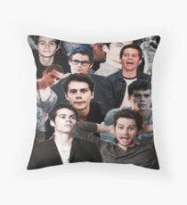 Dylan O'Brien Collage Throw Pillow