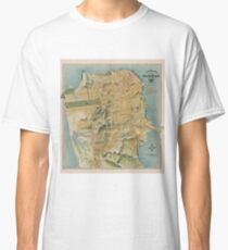 Vintage Map of San Francisco (1915)  Classic T-Shirt
