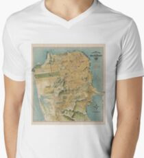 Vintage Map of San Francisco (1915)  Men's V-Neck T-Shirt