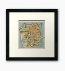 Vintage Map of San Francisco (1915)  Framed Print