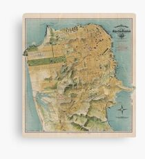 Vintage Map of San Francisco (1915)  Canvas Print