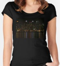 San Diego Skyline Night Women's Fitted Scoop T-Shirt