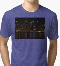 San Diego Skyline Night Tri-blend T-Shirt