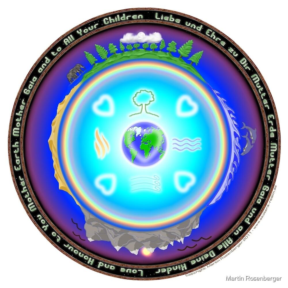 Mother Earth Gaia Mandala by Martin Rosenberger