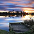 Fishing at Dusk by andy lewis