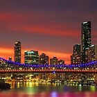 Story Bridge Sundown - Brisbane Qld Australia by Beth  Wode