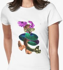 Feathered Serpent Women's Fitted T-Shirt
