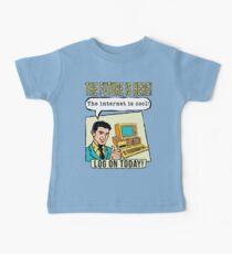 Retro Internet Comic Book Ad T Shirt Baby Tee