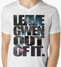 """Leave Gwen Out of It."" Men's V-Neck T-Shirt"