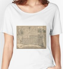 Vintage Map of Savannah Georgia (1818) Women's Relaxed Fit T-Shirt