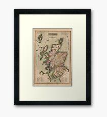 Vintage Map of Scotland (1814)  Framed Print